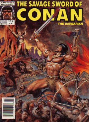 Savage Sword of Conan 151 - The Barbarian - Axe - Sword - Fight - Bows And Arrows