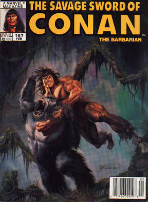 Savage Sword of Conan 157 - Conan The Barabrian - Nelson Hold - Conan Goes Ape - Monkey Business - Im Going To Kill You