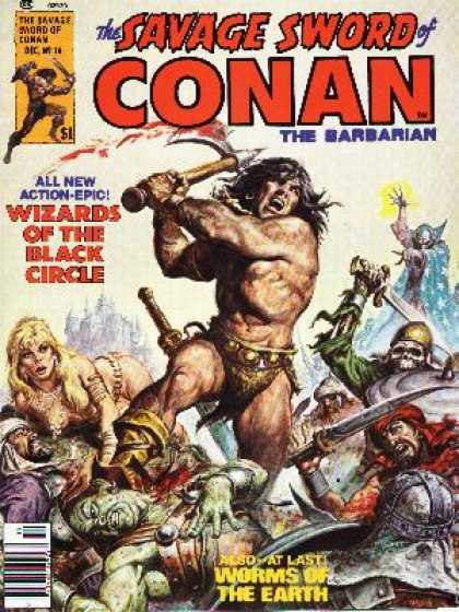 Savage Sword of Conan 16 - Barbarian - Shield - Conan - Battle - Wizards