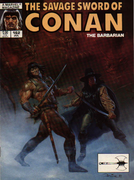 Savage Sword of Conan 162 - Battle Axe - Marvel - Sword - Demons - The Barbarian