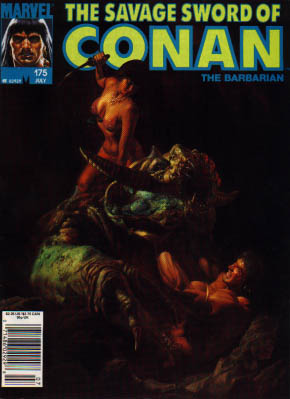 Savage Sword of Conan 175 - Marvel - The Barbarian - Woman - Weapon - Darkness