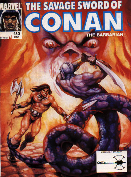 Savage Sword of Conan 180 - Marvel - The Barbarian - Weapon - Sword - Battle