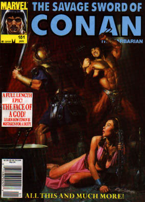 Savage Sword of Conan 181 - The Face Of A God - Arnold - Princess - Fitghts - Muscles
