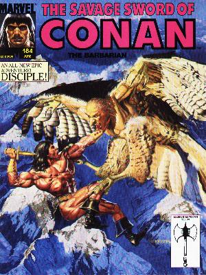 Savage Sword of Conan 184 - Marvel - Disciple - 184 Apr - Knife - Rock