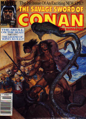 Savage Sword of Conan 190 - Beast Of The Sea - The Sorceress Is Captured - King Kull Returns - The Cimmerians Revenge - The Oceans Doomed