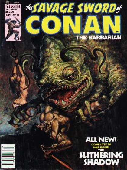 Savage Sword of Conan 20 - Slithering Shadow - Monster - Babe - Fangs - Creature