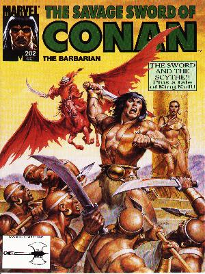 Savage Sword of Conan 202 - Marvel - Spear - Sword - The Barbarian - Savages