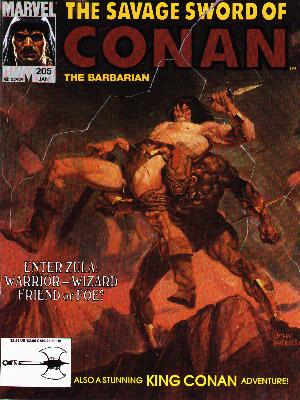 Savage Sword of Conan 205 - The Barbarian - Warrior - Wizard - King Conan - Marvel