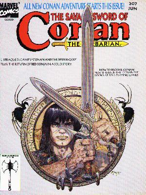 Savage Sword of Conan 207 - Marvel Comics - The Barbarian - Weapon - June - Double Sided Axe - Michael Kaluta
