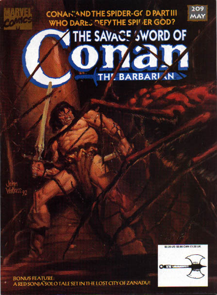 Savage Sword of Conan 209 - Spider-god - Who Dares Defy The Spider God - Spider Web - Sword - Barbarian