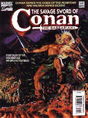 Savage Sword of Conan 213 - Marvel - The Barbarian - The God Of The Mountain - Sword - Woman