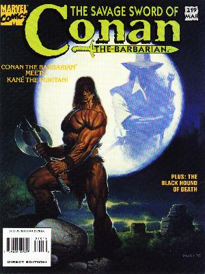 Savage Sword of Conan 219 - Battle Axe - Moon - Black Hound Of Death - Barbarian - Muscles