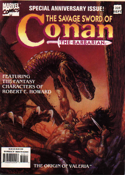 Savage Sword of Conan 225 - Monster - Man - Knife - Nails - Fire