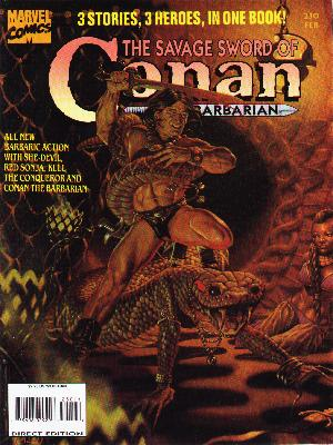 Savage Sword of Conan 230 - Heroes - Conan The Barbarian - Sword - Lizard - Muscel Man