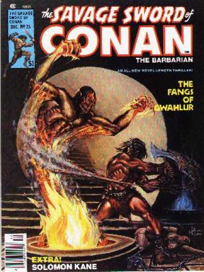 Savage Sword of Conan 25 - War Ax - Solar System - Monster - Fire - Death