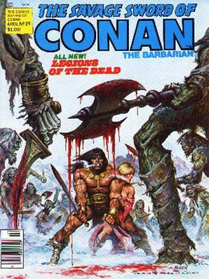 Savage Sword of Conan 39 - Legions - Deal - Battle Axe - Surrounded - Dead