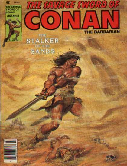 Savage Sword of Conan 54 - Sword - Conan - The Barbarian - July No 54 - The Stalker Of The Sands