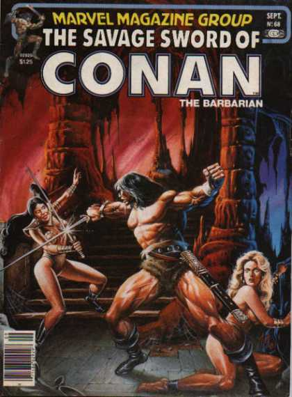 Savage Sword of Conan 68 - Marvel Magazine - The Barbarian - Gladiator - Wrestler - Real Hero - Joe Jusko
