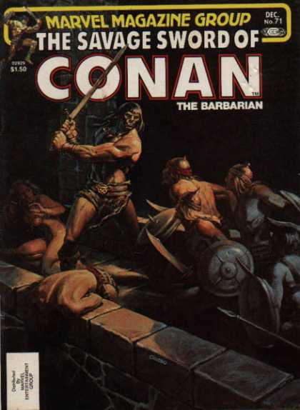 Savage Sword of Conan 71 - Slaves - Weapons - Fighting - Masks
