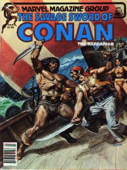 Savage Sword of Conan 75 - Pirates - Ship - Fights - Water - Female