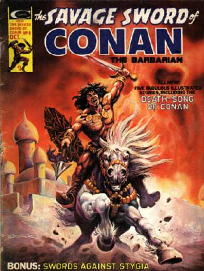 Savage Sword of Conan 8 - Stronger Man - Knife - Horse - Haunger Man - Fighting Man