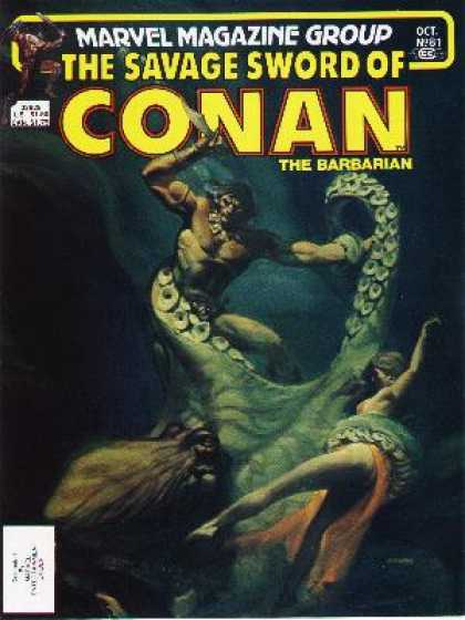Savage Sword of Conan 81 - Marvel - Weapon - Tentacles - Woman - Octopus