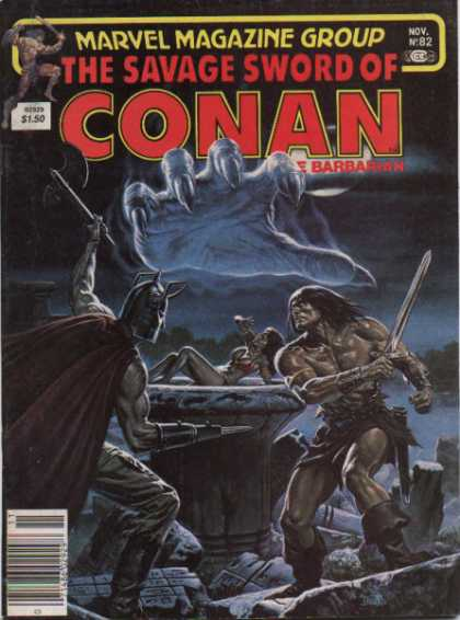 Savage Sword of Conan 82 - Marvel - Magazine - Nov - 82 - Barbarian