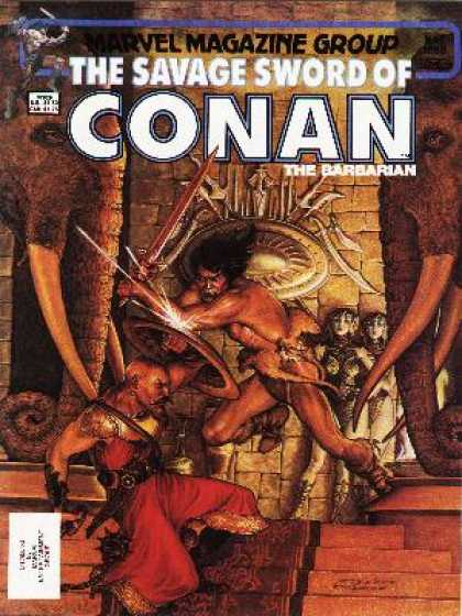 Savage Sword of Conan 88 - Marvel - Marvel Magazine Group - The Barbarian - Elephants - Temple
