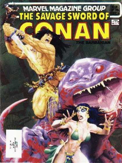 Savage Sword of Conan 98 - Sword Man - Master Of Swords - Savior - Warrior - Barbarian - Michael Golden