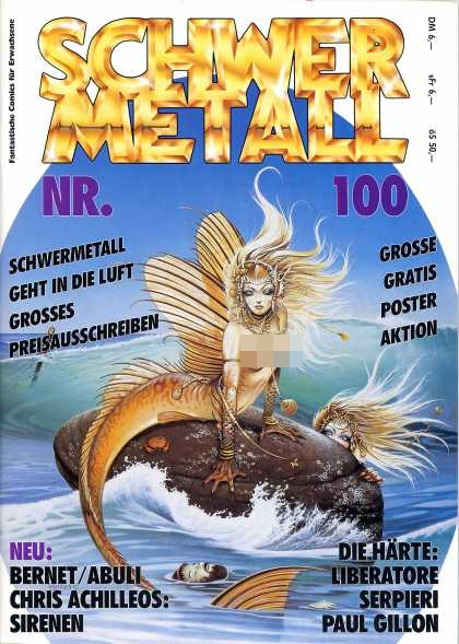 Schwermetall 105 - Sirene - Gorgeous Mermaid - Femme Fatale - Oceanic Girl - Eyes Of The Sea