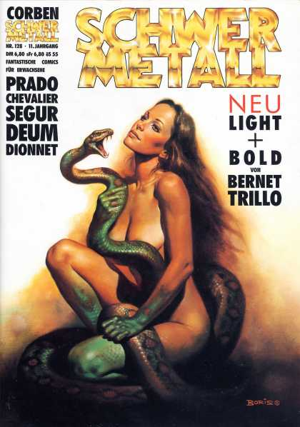 Schwermetall 136 - Corben - Woman - Snake - Neu Light And Bold - Bernet Trillo