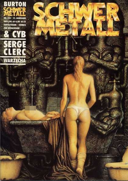 Schwermetall 141 - Schwer Metall - Naked Women - Woman In Tub - Serge Clerc - Warzecha