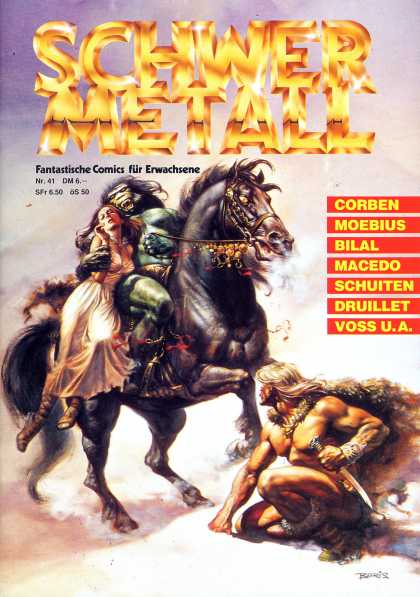 Schwermetall 44 horse barbarian hero humanoid rescue the