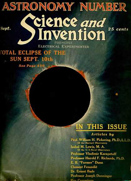 Science and Invention - 9/1923