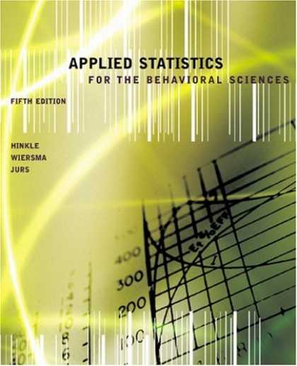 Science Books - Applied Statistics for the Behavioral Sciences