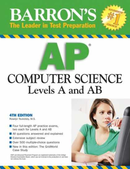 Science Books - Barron's AP Computer Science, Levels A and AB