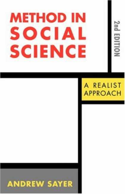 Science Books - Method in Social Science: A Realist Approach