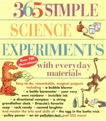 Science Books - 365 Simple Science Experiments with Everyday Materials