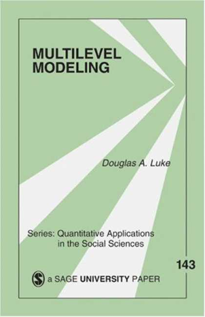 Science Books - Multilevel Modeling (Quantitative Applications in the Social Sciences)