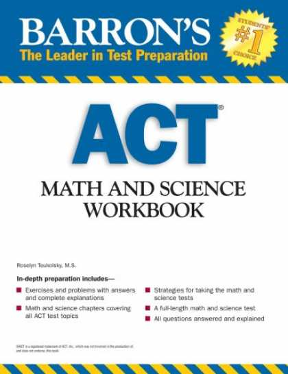Science Books - Barron's ACT Math and Science Workbook (Barron's Act Math & Science Workbook)