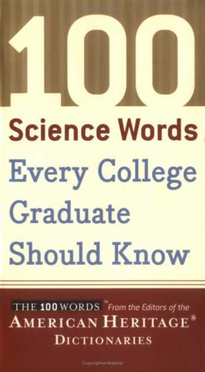 Science Books - 100 Science Words Every College Graduate Should Know