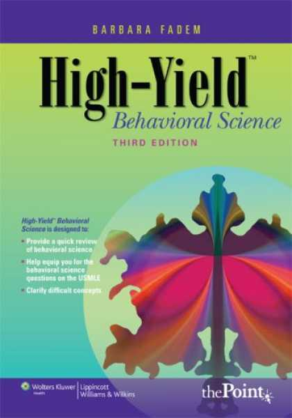 Science Books - High-Yield Behavioral Science (High-Yield Series)