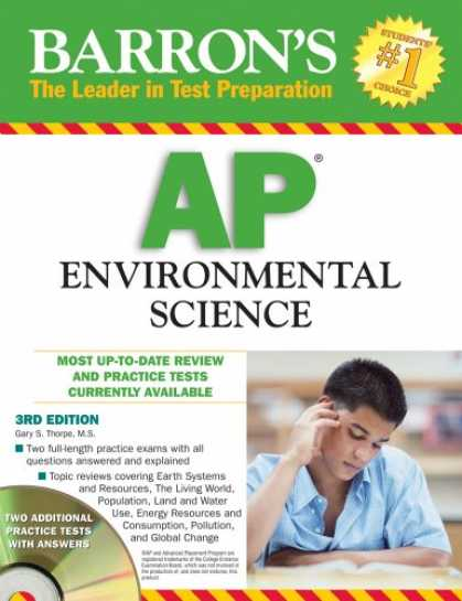 Science Books - Barron's AP Environmental Science with CD-ROM (Barron's AP Environmental Science