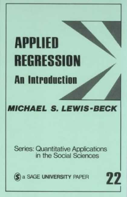 Science Books - Applied Regression: An Introduction (Quantitative Applications in the Social Sci