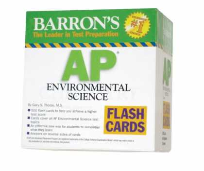 Science Books - Barron's AP Environmental Science Flash Cards (Barron's: the Leader in Test Prep