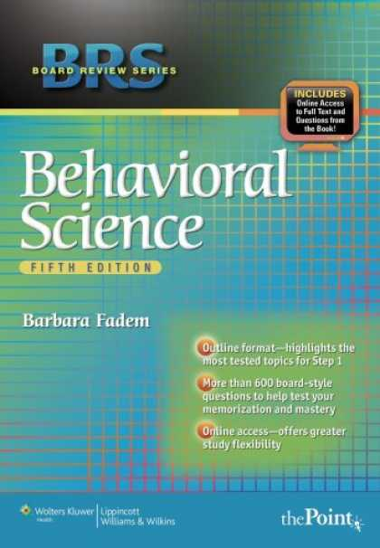 Science Books - BRS Behavioral Science (Board Review Series)