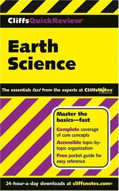 Science Books - CliffsQuickReview Earth Science