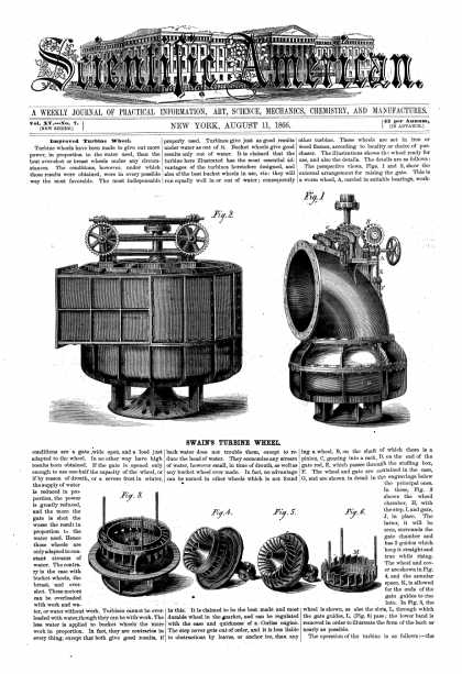Scientific American - Aug 11, 1866 (vol. 15, #7)