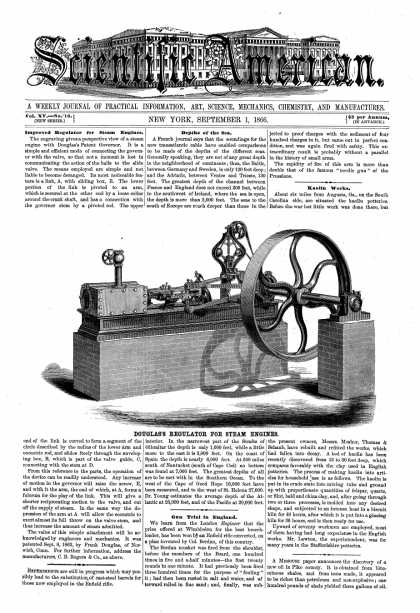 Scientific American - Sept 1, 1866 (vol. 15, #10)