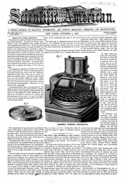 Scientific American - Oct 6, 1866 (vol. 15, #15)